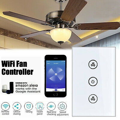 AU31.68 • Buy Smart Wifi Ceiling Fan Switch Controller Wall Touch Panel For Alexa Google Home