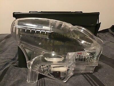 $90 • Buy NEW Pinokio PL250/400 Electronic Paintball Hopper Loader W/ Nose Cone - Clear