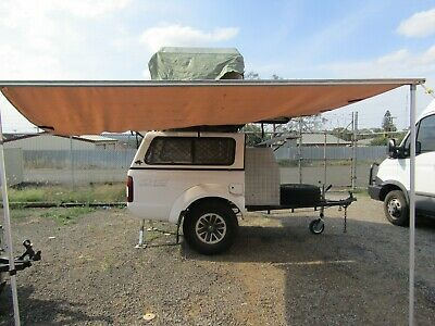 AU1950 • Buy Enclosed Camping Trailer /box Trailer With Rooftop Tent Custom Nissan Navara