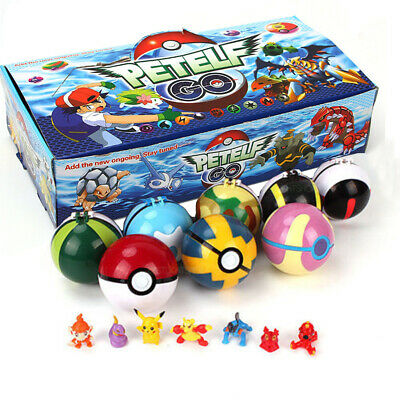 2.8'' 8Pcs Pokeball Ball Set Pokemon GO Action Figures Christmas Toy Gift • 11.59£