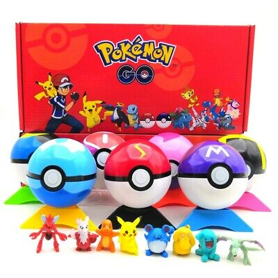 8Pcs Pokeball Ball SET Pokemon GO Action Figures Christmas Toys Kids Gifts • 13.59£