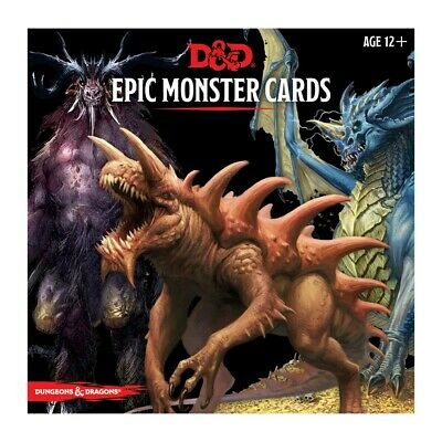 AU35.30 • Buy Dungeons & Dragons Epic Monster Cards 5th Edition