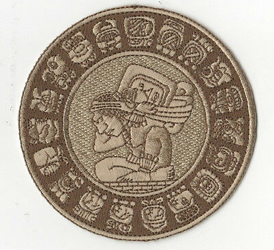 £9.51 • Buy Genuine 100% Embroidered 2012 Doomsday Calendar 4  Mayan Zodiac Circle Patch