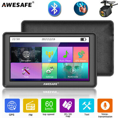 AU83.99 • Buy 7 AWESAFE GPS Navigator For Truck Car SAT NAV With Bluetooth Free Australia Map