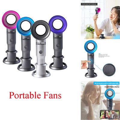 AU18.99 • Buy Mini Portable Bladeless Hand Held Fan 360° Degrees USB No Leaf Handy Air Cooler