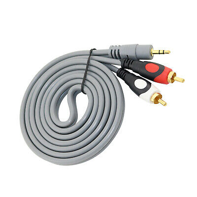 3.5mm Stereo Jack To 2 RCA Phono Y Audio Splitter Cable 1.5M For DJ Controller • 2.95£
