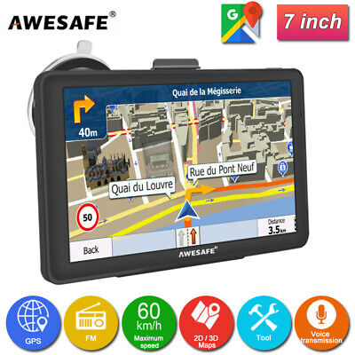 AU86.99 • Buy 7 AWESAFE A1 GPS Navigation With Portable SAT NAV With Free AU Map
