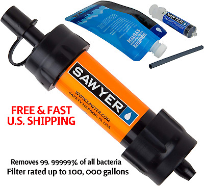 AU52.49 • Buy SAWYER Water Filtration System Can Attach To Bottles Inline 0.1 MICRON FILTER