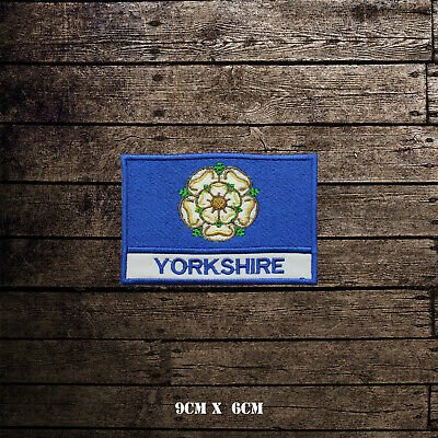 £2.09 • Buy YORKSHIRE Flag With Name Embroidered Iron On Sew On Patch Badge For Clothes Etc