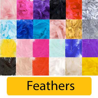 Eleganza Marabou Craft Feathers - Mix 3 /5 - 50g Pack Balloon Table Event Decor • 4.75£