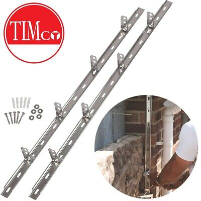 STEEL WALL STARTER KIT Extension Building Indoor Outdoor Tie In + Fixings Block • 12.49£