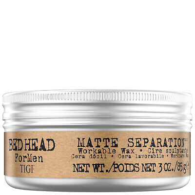 NEW TIGI Bed Head For Men Styling Matte Separation Workable Wax 85g • 7.98£