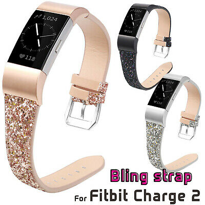 $ CDN14.39 • Buy Glitter Leather Strap Band For Fitbit Charge 2 Smart Watch Belt Charge2 Bracelet