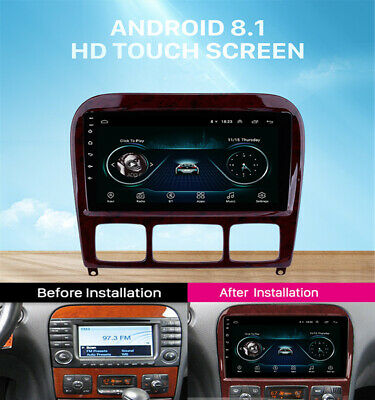$212.30 • Buy 9'' Android 8.1 Car Radio For 1998-05 Mercedes Benz S Class W220 S280 S320 S350