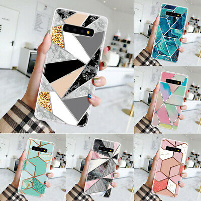 $ CDN3.99 • Buy Marble Case For Samsung Galaxy S20 S10 S9 Plus Geometrical Silicone Bumper Cover