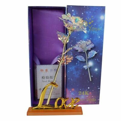 Galaxy Rose Flower Valentine's Day Lovers' Gift Romantic Crystal Rose With Box • 3.53£