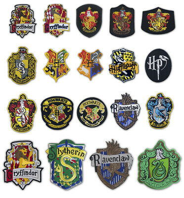 Harry Potter House Badge Collection Iron On Sew On Embroidered Patches • 1.99£