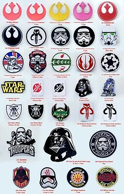 Star Wars Movies Collection Iron Or Sew On Embroidered Patches • 1.99£