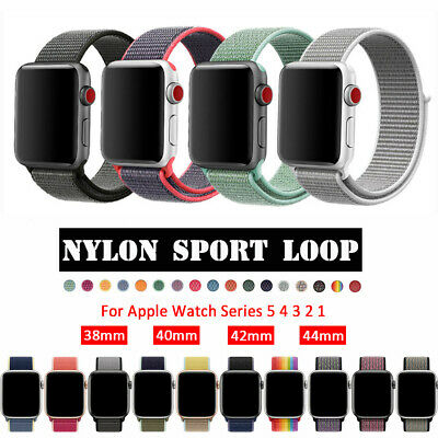 $ CDN1.56 • Buy Nylon Sports Band Strap For Apple Watch 38/40/42mm/44mm IWatch Series 5 4 3 2 1