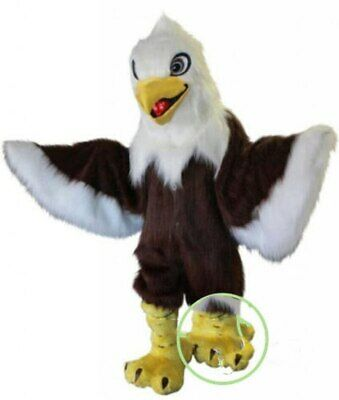 Deluxe Long Fur Eagle Mascot Costume Suits Cosplay Party Game Dress  • 367.88£