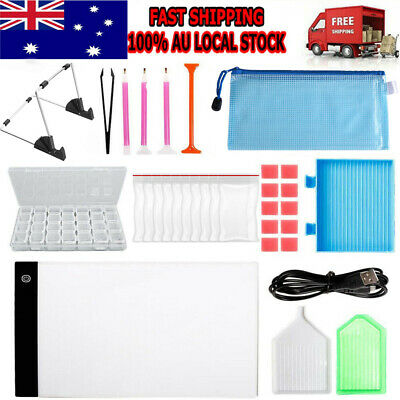 AU23.95 • Buy 5D Diamond Painting Tools DIY Art Craft + LED Pad Light Board With Stand Holder