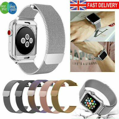AU22.98 • Buy Magnetic Milanese Loop Strap Watch Band For Apple Watch 1/2/3/4 38/40/42 Mm