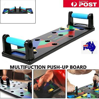 AU109.99 • Buy 9 In1 Push Up Board Yoga Bands Fitness Workout Train Gym Exercise Pushup Stands