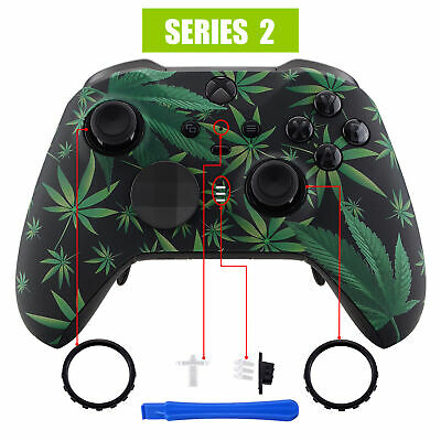 $18.99 • Buy Custom Green Weeds Faceplate Front Housing Shell For Xbox One Elite 2 Controller
