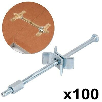 100X KITCHEN WORKTOP CONNECTING BOLTS 150MM Joining Joint Clamps Butterfly UK • 34.95£