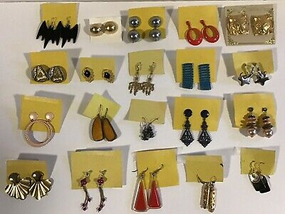 $ CDN8.99 • Buy Jewellery Lot Of 20 Vintage Pair Earrings (pierced)
