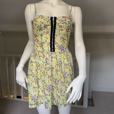 £13 • Buy TOPSHOP Floral Front Fastening Bustier Corset Tunic Top Size 6