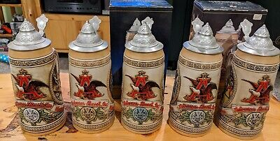 $ CDN65.76 • Buy Anheuser-Busch Steins - Limited Edition - Tomorrow's Treasures FULL SET