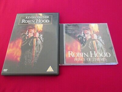 Robin Hood Prince Of Thieves - Dvd + Cd Soundtrack • 6.99£