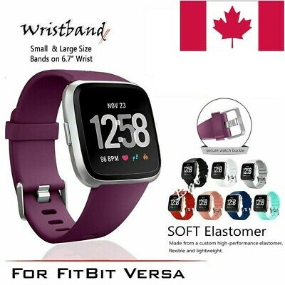 $ CDN8.50 • Buy For Fitbit Versa Silicone Replacement Wrist Watch Strap Band For Yoga,Fitness