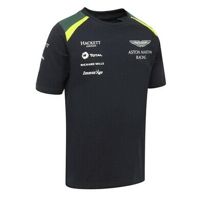 T-SHIRT Kids Aston Martin Racing Team Hackett Sponsor Navy Child NEW! • 24.89£