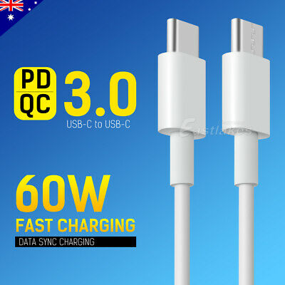 AU6.99 • Buy USB Type C To USB-C Cable QC PD 3.0 Fast Charging For Samsung S20 S10 Note 10 5G