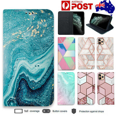 AU8.98 • Buy IPhone 11 Pro Max Case XS MAX XR Magnetic Leather Card Wallet Stand Marble Case