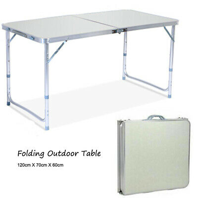 $30.85 • Buy Folding Table Indoor Outdoor BBQ Portable Plastic Picnic Party Camp Tables US