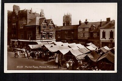 Melton Mowbray - Market Place - Real Photographic Postcard • 8.50£