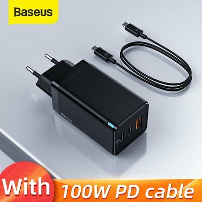 AU44.35 • Buy Baseus 65W GaN USB Type C Wall Charger US QC PD 3.0 Laptop Adapter For IPhone 12