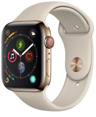 $ CDN587.64 • Buy Apple Watch Series 4 44 Mm Gold Stainless Steel /Stone Sport Band GPS + Cellular
