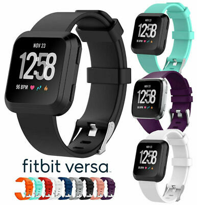 $ CDN8.50 • Buy Silicone Sport Band Replacement Soft Bracelet Strap For Fitbit Versa Lite S / L
