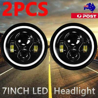 AU58.99 • Buy DOT 7inch Round LED Headlight /w Halo Angle Eyes Fit For Jeep Wrangler JK LJ TJ