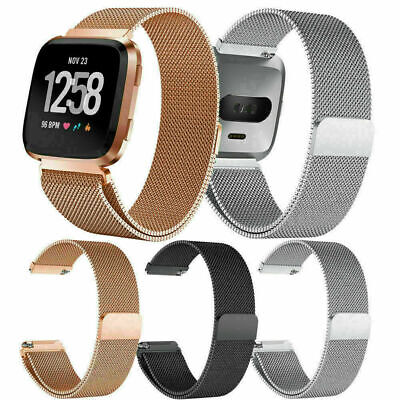 $ CDN9.99 • Buy Replacement Wrist Metal Strap Band Stainless Steel For Fitbit Versa Watch Band