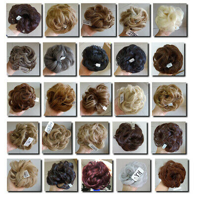 £4.99 • Buy UK Curly Messy Bun Hair Piece Scrunchie Updo Cover Hair Extensions Real As Human