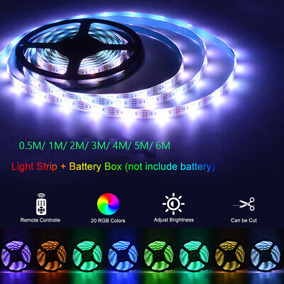 $10.27 • Buy Dimmable LED Light Strip 5050 SMD + Remote Controller 44 Key + Battery Power Box