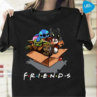 $13.99 • Buy Baby Groot Baby Stitch And Baby Toothless Baby Yoda Baby Gizmo Friends Shirt