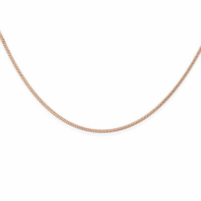 Rope Chain Necklace Rose Gold Plated Sterling Silver Size 20  TJC • 11.99£