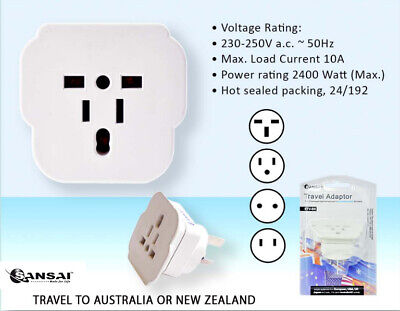 AU15.81 • Buy SANSAI Universal Travel Adapter International UK USA EU To Australia Power Plug