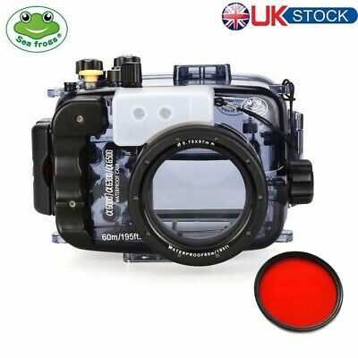 Seafrogs 60m Underwater Camera Housing Diving Case For Sony A6000 A6300 A6500 • 169£